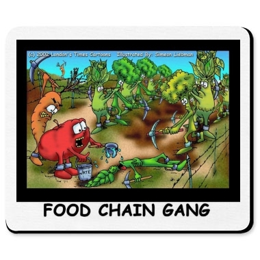 Food Chain Gang. Food Chain Gang Mousepad - Humor - Printfection.com