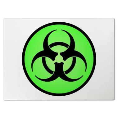 Green toxic symbol green biohazard symbol cutting