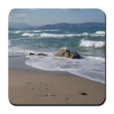 Seascape Cork Bottom Coaster