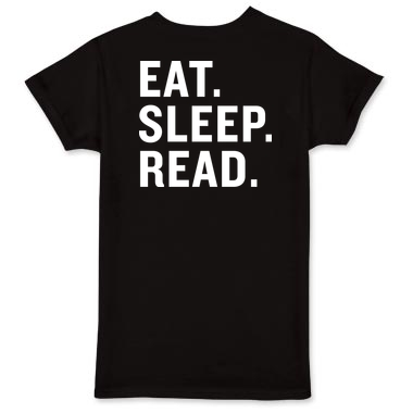 10 Bookish Gifts for your reader friend t-shirt eat sleep read