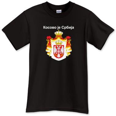 Kosovo je Srbija crna majica T-Shirt - Kosovo je Srbija - Printfection.com