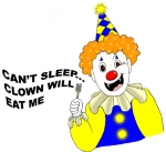 Are you an insomniac who's creeped out by clowns?  Me too!