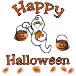 <h1><font size=&quot;2&quot;>Happy Halloween t-shirts, sweatshirts & trick or treat tote bags.  For Halloween earrings, gifts, mugs & travel mugs<b>