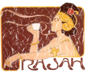 Rajah is a vintage advertisement for Rajah Coffee from 1899. The design has a lightly distressed look as though you've had it for years.