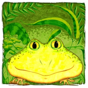 A Happy little froggie is Anthony ... scroll down to see him on t-shirts, mousepads, glass cutting boards and many other great gifts.  He is a little green frog who will bring a smile kids of all ages.  Let him add a little magic to your life.