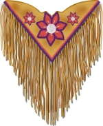 This design is a reminder of the old styles that Native Americans have worn for centuries, and still wear today for powwows, and other special occasions.  This is a unique design sure to make a beautiful gift, and you'll want one, too!