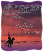 The vision of the buffalo in the sunset sky makes the young Native American brave's heart glad.  He sits quietly on his pony and tries to absorb the full meaning of his experience in this beautiful bison design.  Great as a gift, too!