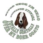 Goat Breed featured on this cool spiral design with the Goat Portrait inside- Totally Goatally over my Boer Goats- Makes great Birthday gift for goat owners, Perfect for Christmas gift giving too.