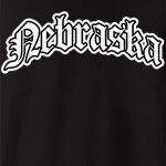Represent Nebraska with this Olde English style design. Available in several colors - click an item to select your color! Exclusive to WhereTees.com.