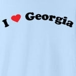"Call it ""I love Georgia"", or ""I heart Georgia,"" or whatever you like, this is the only way of showing your love for Georgia that you should consider. Exclusive design featuring cool curved text with a strong red heart."