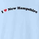 "Call it ""I love New Hampshire"", or ""I heart New Hampshire,"" or whatever you like, this is the only way of showing your love for New Hampshire that you should consider. Exclusive design featuring cool curved text with a strong red heart."