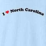 "Call it ""I love North Carolina"", or ""I heart North Carolina,"" or whatever you like, this is the only way of showing your love for North Carolina that you should consider. Exclusive design featuring cool curved text with a strong red heart."