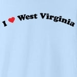 "Call it ""I love West Virginia"", or ""I heart West Virginia,"" or whatever you like, this is the only way of showing your love for West Virginia that you should consider. Exclusive design featuring cool curved text with a strong red heart."