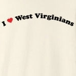"Call it ""I love West Virginians"" or ""I heart West Virginians,"" this is how you can show your love for West Virginians. Exclusive design featuring cool curved text with a strong red heart."