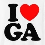 "A classic way to show how much you (heart) Georgia, this cool design will never grow old! Featuring ""I (heart) GA."" in big, bold letters, and a strong red heart, this is the perfect way to show how much you love Georgia."