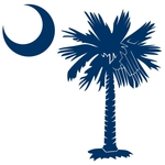 The blue palmetto and crescent moon pocket print design is a symbol of South Carolina pride. Buy blue palmetto t-shirts, sweatshirts or other clothing items with the palmetto moon printed on the pocket area.