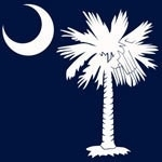 The white palmetto and crescent moon pocket print design is a symbol of South Carolina pride. Buy white palmetto t-shirts, sweatshirts or other clothing items with the palmetto moon printed on the pocket area.