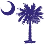 The purple palmetto and crescent moon design is a symbol of South Carolina pride. Buy purple palmetto moon t-shirts, sweatshirts, or other clothing or gift items.