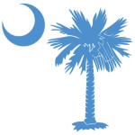 The light blue palmetto and crescent moon pocket print design is a symbol of South Carolina pride. Buy light blue palmetto t-shirts, sweatshirts or other clothing items with the palmetto moon printed on the pocket area.