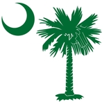 The green palmetto and crescent moon design is a symbol of South Carolina pride. Buy green palmetto moon t-shirts, sweatshirts, or other clothing or gift items.