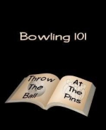 "This cool bowling 101 t-shirt design gives a Bowling 101 lesson for beginner bowlers. It shows an open book whose pages say: ""Throw the ball, at the pins."""
