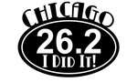26.2, Chicago Marathon...I did it! Oval on running shirts. 