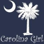 Carolina Girls are the best in the world! Choose your favorite shirt style and color for this red version of our popular carolina girl design that also features the palmetto and moon logo of South Carolina.