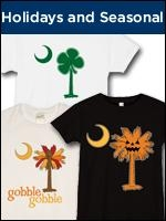 Seasonal and holiday themed Palmetto Moon Shirts and South Carolina T-Shirts to help you celebrate your favorite holiday or time of year. Celebrate in style with a Palmetto Moon t-shirt, sweatshirt or gift item.