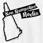 There's one thing that New Hampshire and this design have in common: they ROCK! Features stylish dripping paint New Hampshire state outline. Finally, you can get the confidence to rock out in style by wearing the NEW HAMPSHIRE ROCKS t-shirt!
