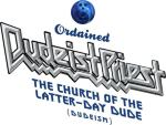 Show the world you're an ordained Dudeist Priest at The Church of the Latter-Day Dude (Dudeism.com) with this reworking of the hard rock band Judas Priest's logo.