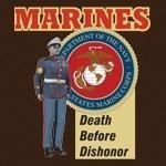 USMC Death Before Dishonor Tee