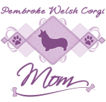 Awesome Pembroke Welsh Corgi mother's day gifts! Our purple corgi mom t-shirts have an argyle style in the center, complete with a dog silhouette. Great way to show your love for this short-legged dog breed!