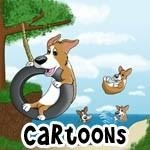 Pembroke Welsh Corgi Cartoons