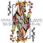Red Whimsical playing card art featuring a Red Doberman Pinscher as the comical Joker. Dobe Lovers will just LOVE it! Also available with a Black & Tan Dobie.