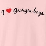 I love Georgia boys. Who doesn't?! Sometimes you just have to declare your love to the whole world, but you don't know how - until now. Studies have shown this tee to be a magnet for Georgia boys... (Not guaranteed!)