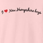 I love New Hampshire boys. Who doesn't?! Sometimes you just have to declare your love to the whole world, but you don't know how - until now. Studies have shown this tee to be a magnet for New Hampshire boys... (Not guaranteed!)