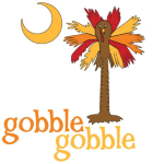 Gobble, Gobble Turkey Palmetto Moon. Celebrate Thanksgiving in South Carolina Palmetto Moon style with Gobble Gobble Turkey Palmetto Moon T-Shirt, Sweatshirt, or other gift item.