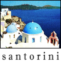 Santorini T-shirts for adults and children.  The gorgeous island of Santorini has recently become popular with cruisers.  Get an original souvenir shirt that no one else will have.  My own art!