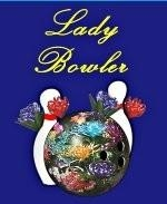 This lady's bowling shirt design shows a bowling ball embossed with flowers, with more flowers interspersed among the bowling ball and bowling pins. Perfect for the dainty bowler you know.