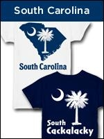South Carolina shirts, apparel, and gifts with and without the famous South Carolina palmetto moon logo.