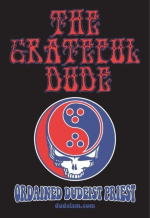 "The Dudeist version of the Grateful Dead ""Steal Your Face"" logo."