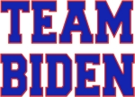 It takes a team to win any election and the volunteers are some of the most important people on the team. Let the world know you are a Proud Member of TEAM BIDEN with a t-shirt, sweatshirt, or tank top.