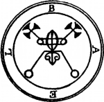 The First Principal Spirit is a King ruling in the East, called Bael. He maketh thee to go Invisible. He appeareth in divers shapes, sometimes like a Cat, sometimes like a Toad, and sometimes like a Man, and sometimes all these forms at once.