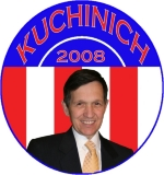 Attend a Kucinich Rally with a t-shirt,tank top, or sweatshirt with a red, white and blue Retro design featuring Dennis Kucinich's picture.