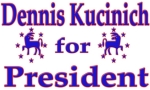 Show your support for Dennis Kucinich with a t-shirt, tank top, or sweatshirt as you work the campaign trail.