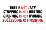Succeeding is Finishing