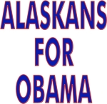 Hit the campaign trail wearing a t-shirt, tank top or sweatshirt with Alaskans For Obama on the front.