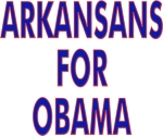 Hit the campaign trail wearing a t-shirt, tank top or sweatshirt with Arkansans For Obama on the front.