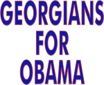 Hit the campaign trail wearing a t-shirt, tank top or sweatshirt with Georgians For Obama on the front.