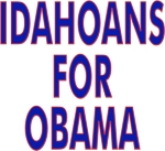 Hit the campaign trail wearing a t-shirt, tank top or sweatshirt with Idahoans For Obama on the front.